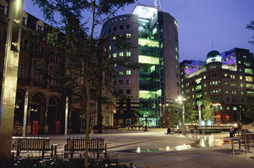 City Square, Leeds. By Night