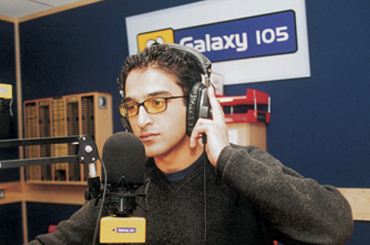 DJ at work for the Leeds radio station Galaxy 105